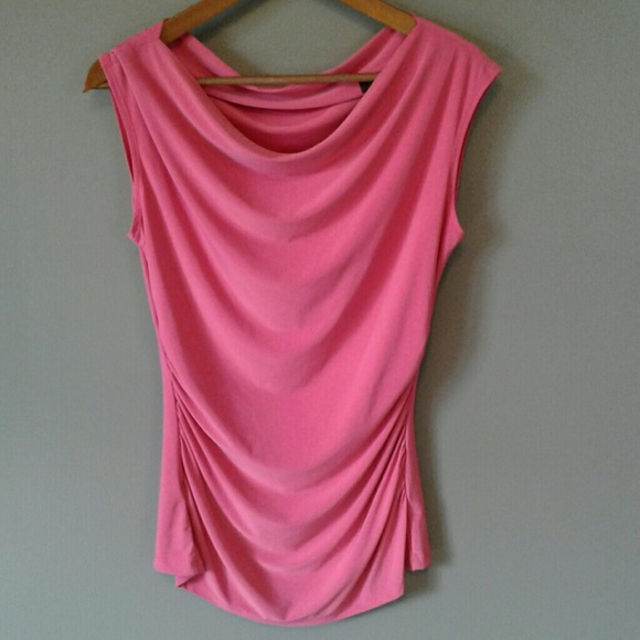The Limited Tops - THE LIMITED Drape Front Sleeveless Pink Blouse